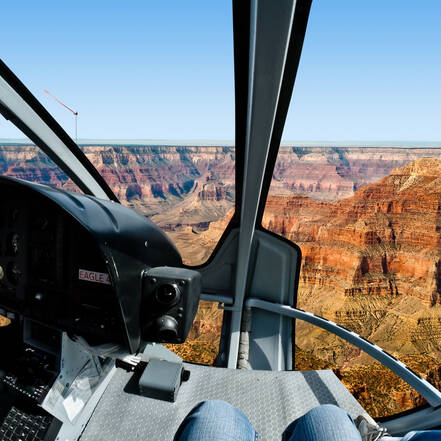 Helikoptervlucht boven de Grand Canyon