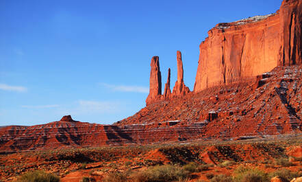Monument Valley Three Sisters