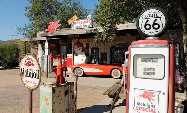 Hackberry Route 66 bij Kingman