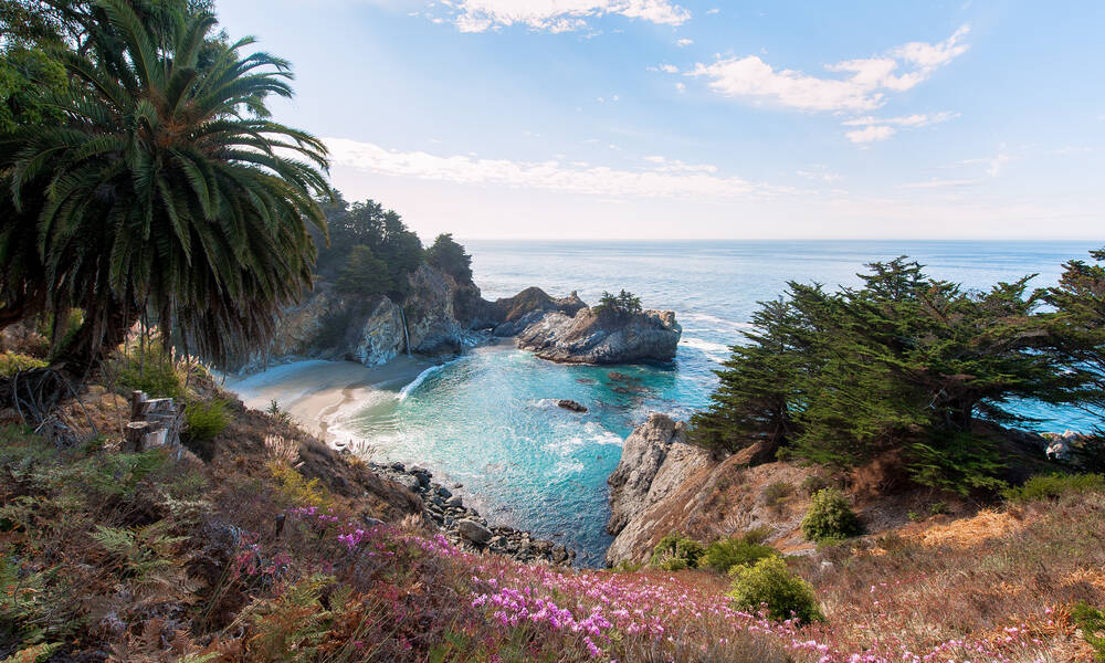 Julia Pfeiffer Burns State Park aan Highway 1 California
