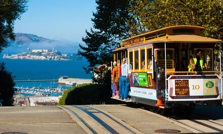 De cable cars van San Francisco zijn te zien in menige film