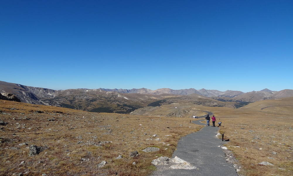 Rocky Mountain National Park, Colorado. Wandeling aan de Trail Ridge Road