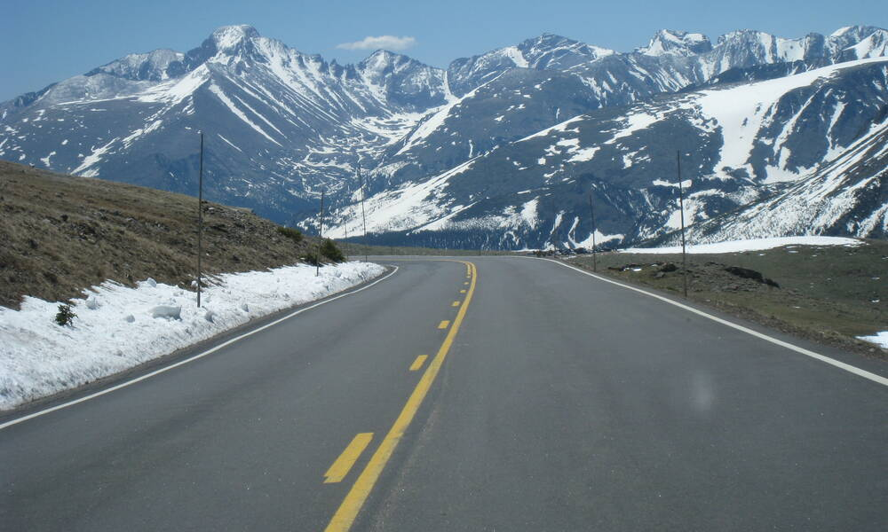 De Trail Ridge Road is een spectaculaire route door de Rocky Mountains van Colorado
