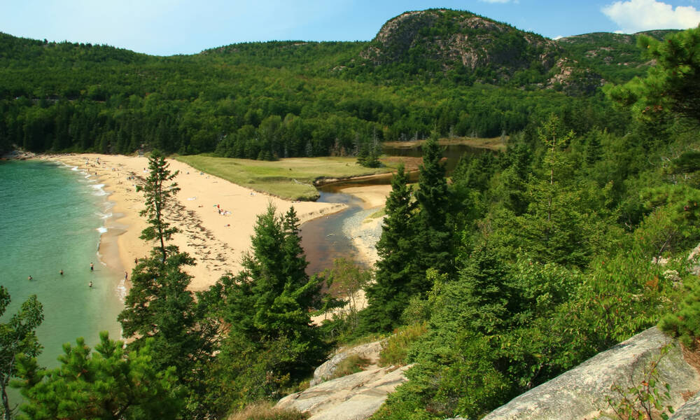 Acadia National Park in Maine, Sand Beach