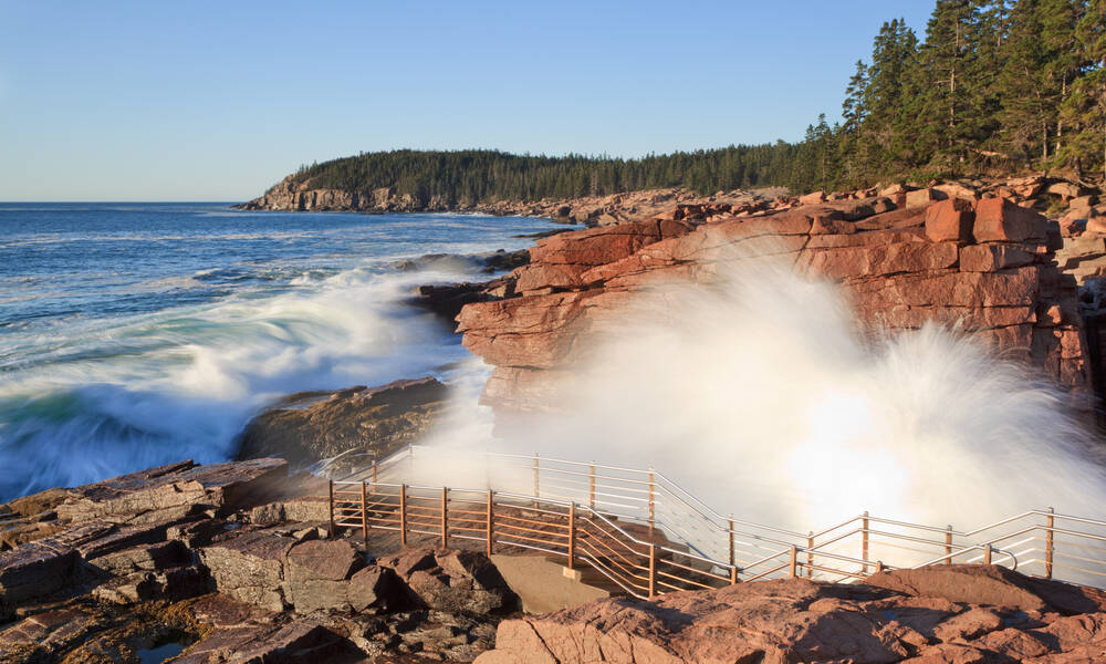 Acadia National Park in Maine, Thunder Hole aan de Loop Road