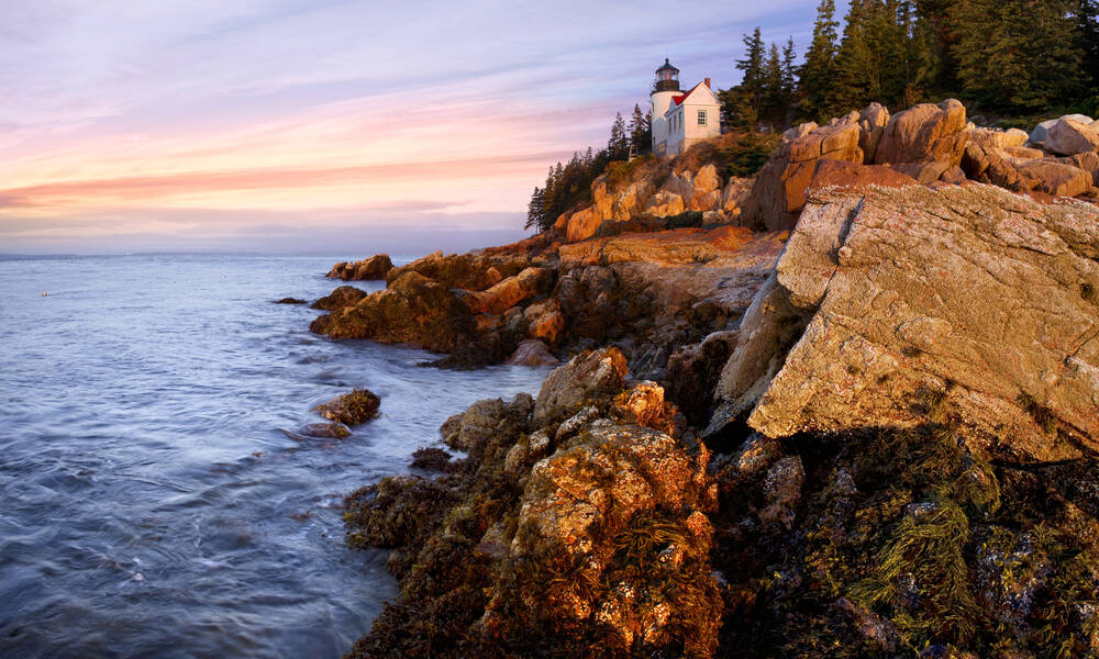Acadia National Park in Maine, Bass Harbor Head Lighthouse