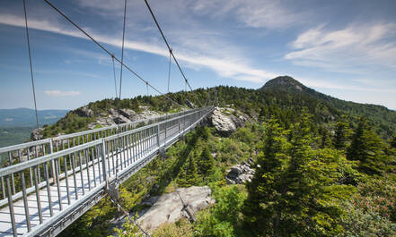 North Carolina Blue Ridge Parkway Grandfather Mountain swinging bridge