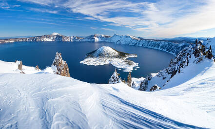 Crater Lake in de winter