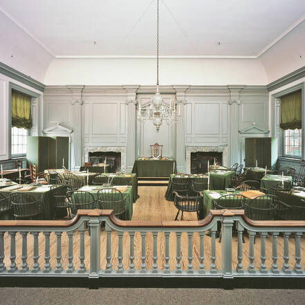 De Assembly Room in Independence Hall