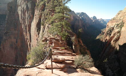 De Angels Landing Trail in Zion National Park is een spannende wandeling
