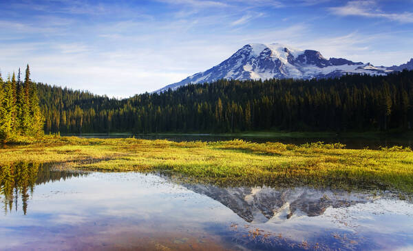 Reflections Lakes bij Mount Rainier