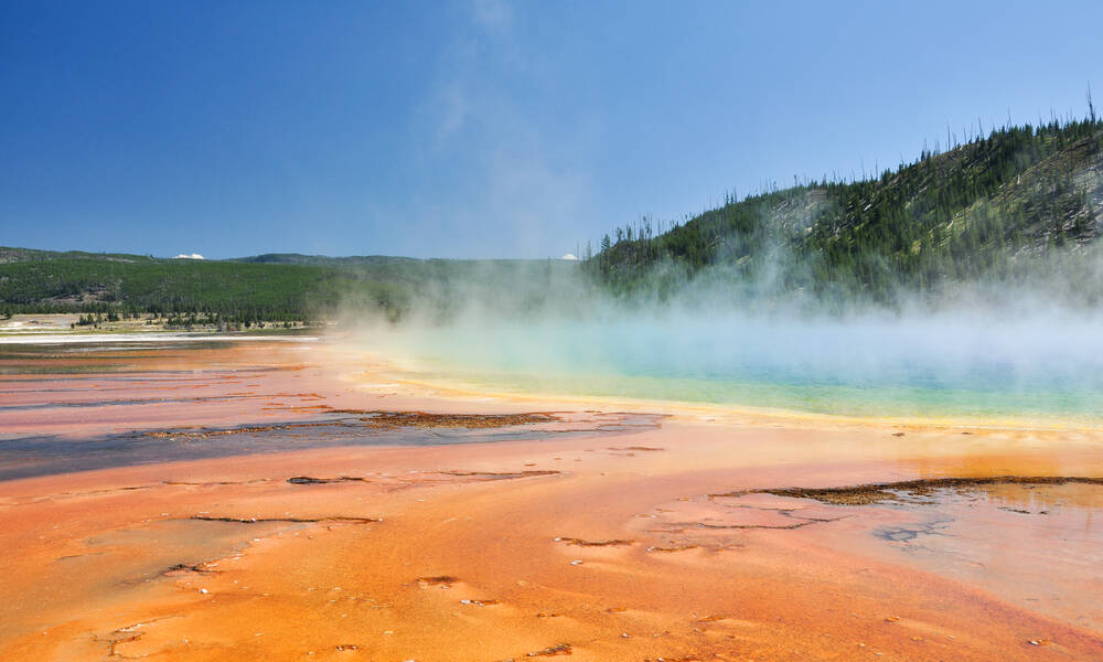 Yellowstone Wyoming Grand Prismatic Spring