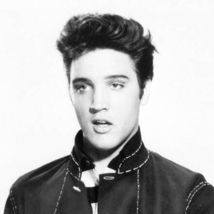 Portret van Elvis in 1957