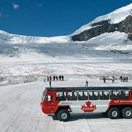 Columbia Icefield aan Icefields Parkway