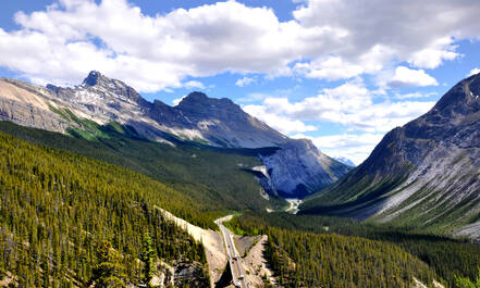 Icefields Parkway in Banff National Park, Alberta