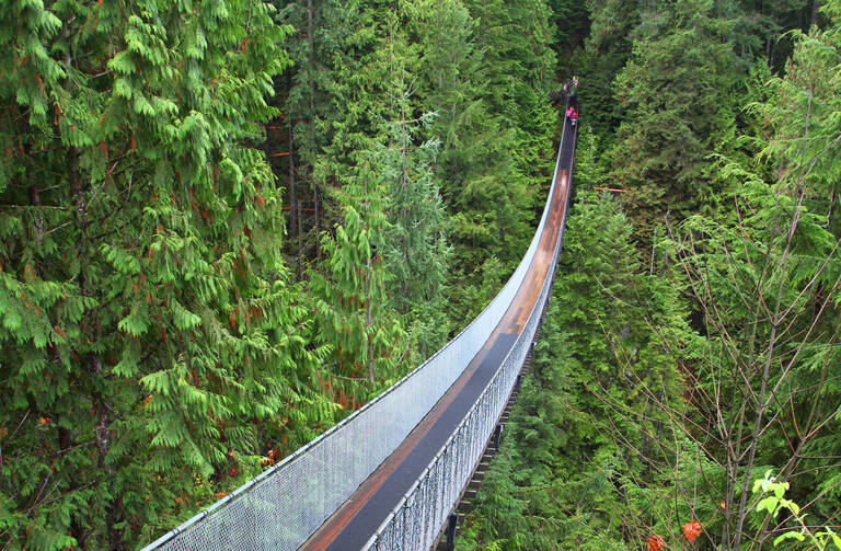 Vancouver, Capilano Suspension Bridge is een van de beroemdste bezienswaardigheden