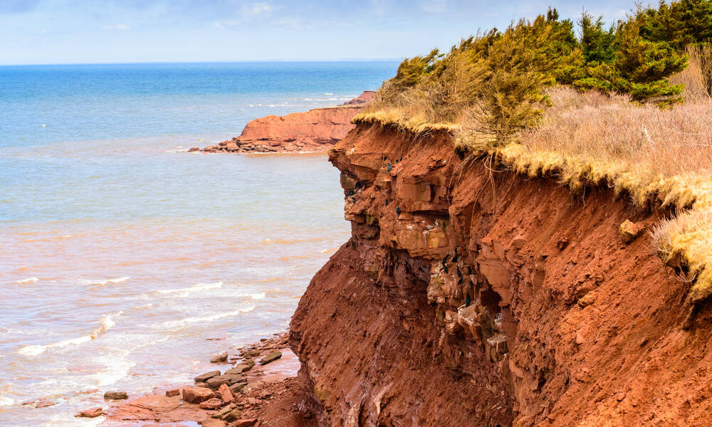Red Cliffs in Cavendish Prince Edward Island