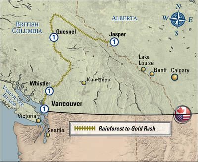 rainforest to goldrush route